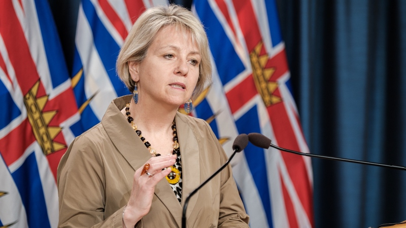 Dr. Bonnie Henry speaks at a COVID-19 briefing on Dec. 14, 2020. (Province of BC/Flickr)