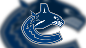 The Canucks logo with the shape of a C that looks like a B.C. killer whale, was designed in 1996 by artist Brent Lynch. Source: NHL.com