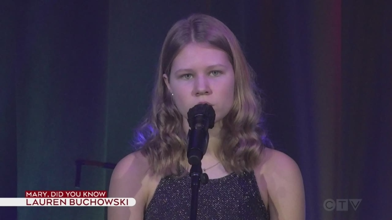 Lauren Buchowski sings Mary Did You Know
