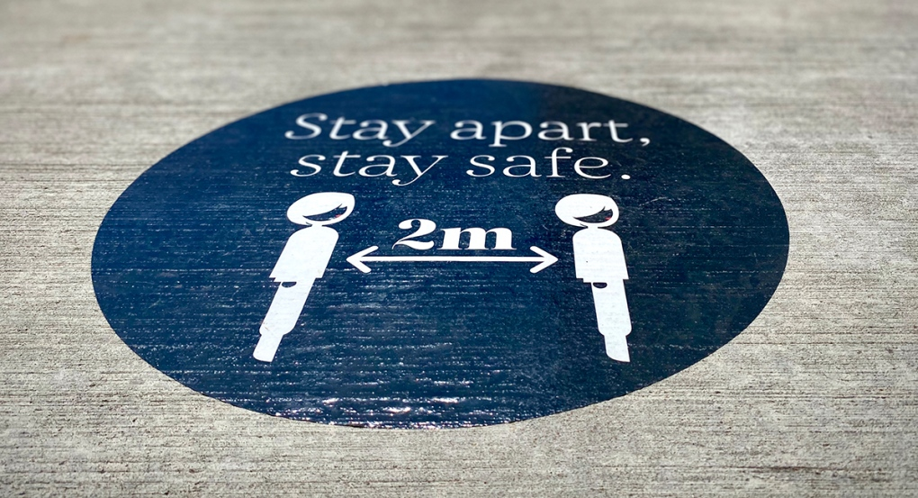 Stay apart, stay safe sign