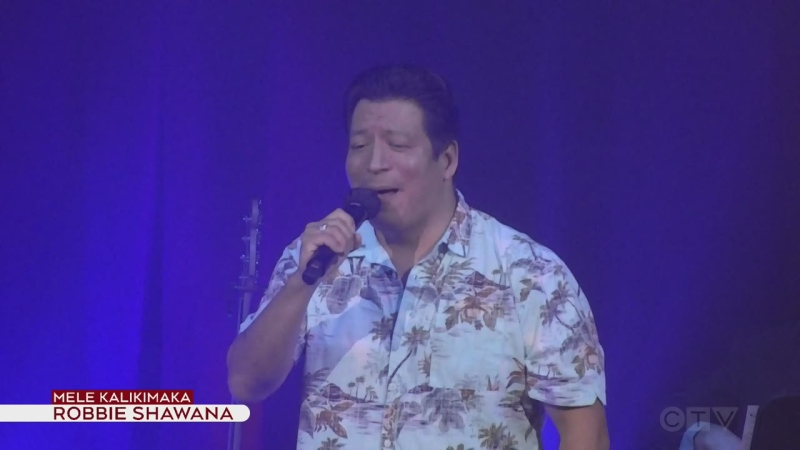 Robbie Shawana performs Mele Kalikimaka