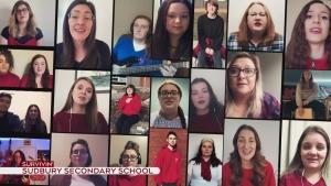 Sudbury Secondary School choir sing Survivin'