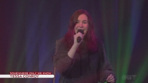 Tessa Conroy performs Somewhere Only We Know