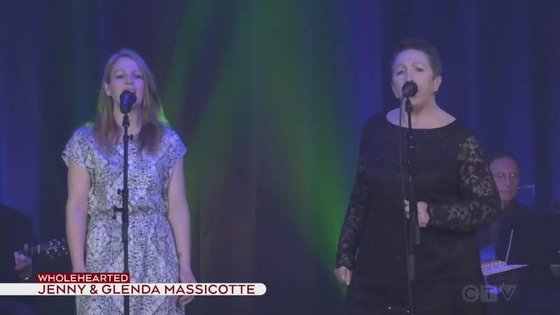 Jenny and Glenda Massicotte perform Hole Hearted