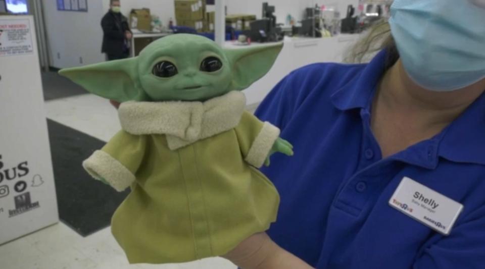 Baby Yoda toy.