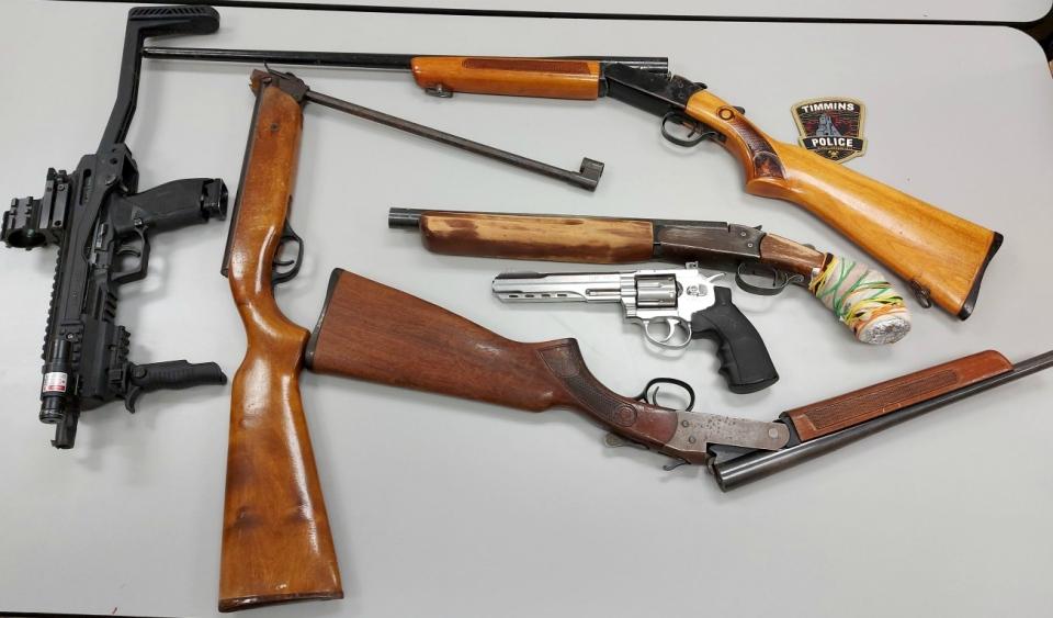 Guns seized in Timmins