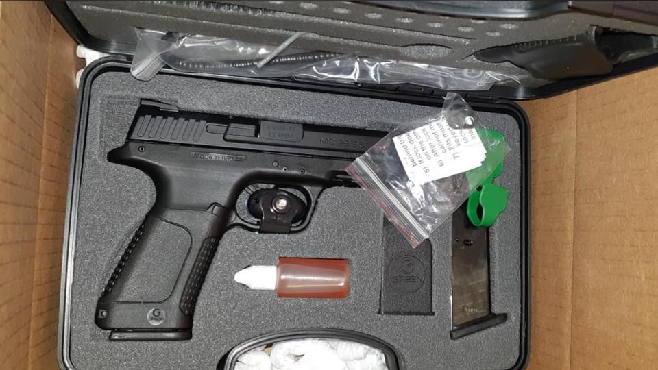 gun found in parcel