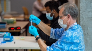 The Nova Scotia Health Authority's labs completed 1,438 tests on Friday. (THE CANADIAN PRESS/Andrew Vaughan)