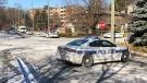 Police investigate a fatal shooting in Brampton Thursday December 17, 2020. (Sean MacInnes)