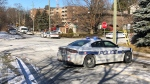 Police investigate a fatal shooting in Brampton Thursday December 17, 2020. (Sean MacInnes)