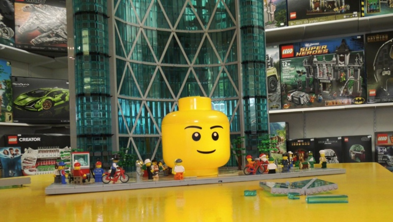 The LEGO version of The Bow building will be unveiled in its new home in the lobby of the building on Jan. 18 after HR Reit agreed to purchased it from the artist. (file)