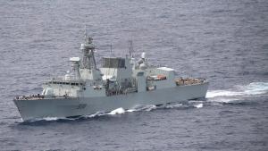 Royal Canadian Navy frigate HMCS Winnipeg (FFH 338) off the coast of Hawaii during the Rim of the Pacific (RIMPAC) exercise on Aug. 21, 2020. (Rawad Madanat/U.S Third Fleet)