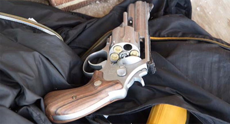 A firearm seized by police in London, Ont. on Thursday, Nov. 19, 2020 is seen in this image released by the London Police Service.