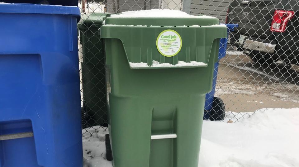 City of Regina's composting bin