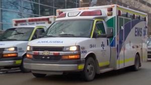 EMS ambulance in Calgary. (file)