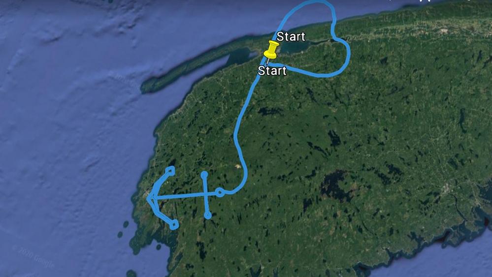 Flight path design for Chief William Saulis crew