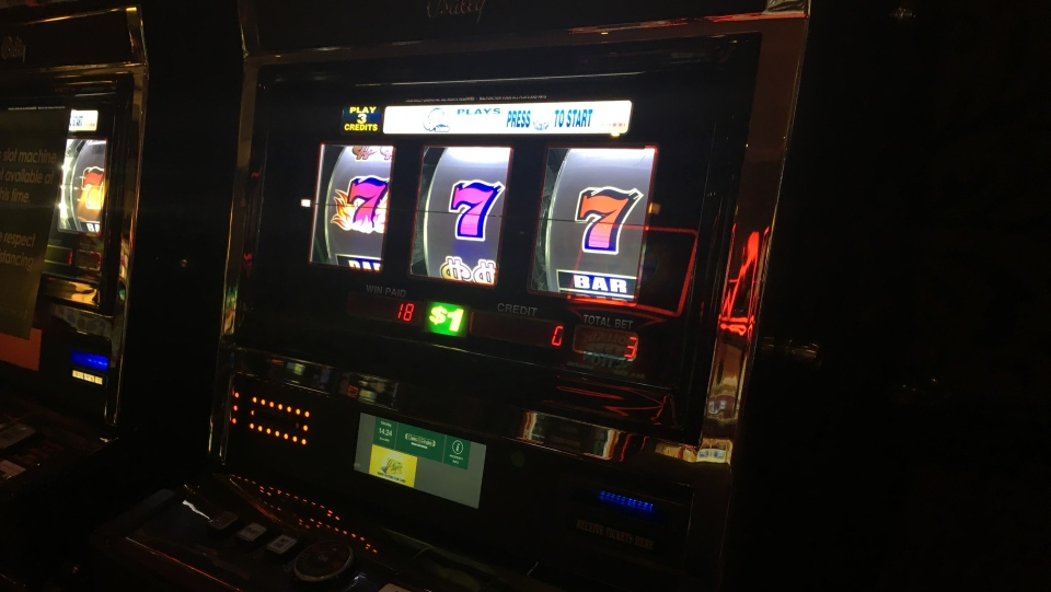 A slot machine is seen at Casino Regina in Regina, Sask. (Cole Davenport/CTV News Regina)