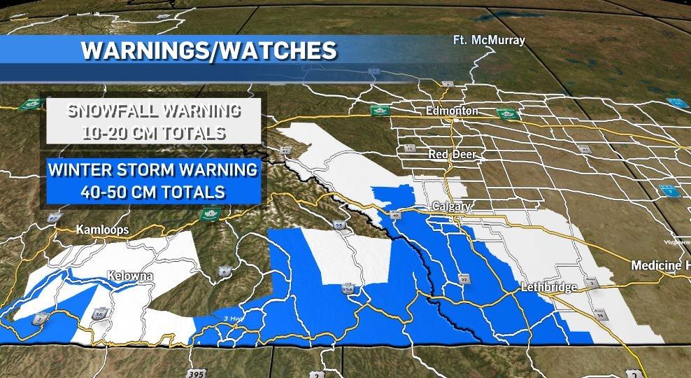 Snowfall warnings