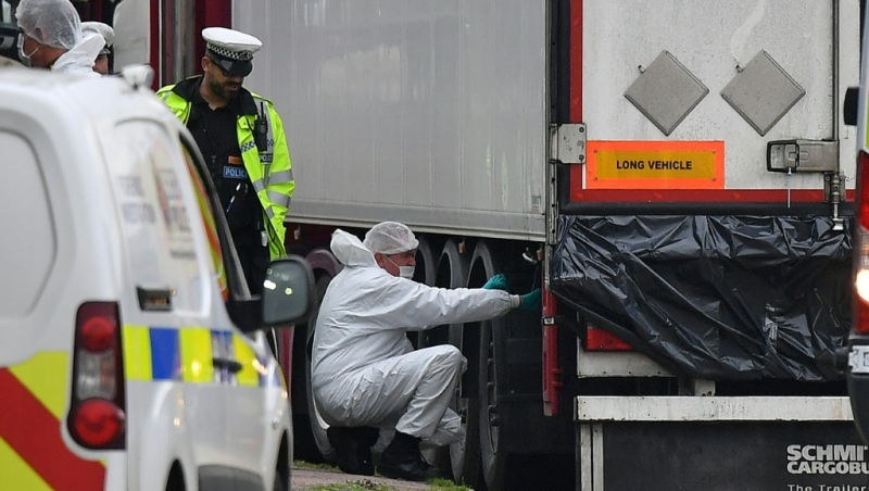 A total of eight people have been convicted in connection with the discovery of Vietnamese migrants in the back of a lorry in England. (AFP)