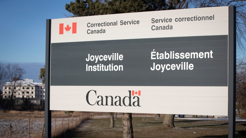Exterior view of Joyceville Institution after an outbreak of at least 80 inmates with COVID-19 at the Joyceville Institution in Kingston, Ontario, on Thursday Dec. 17, 2020, as the COVID-19 pandemic continues across Canada and around the world. (Lars Hagberg/THE CANADIAN PRESS)