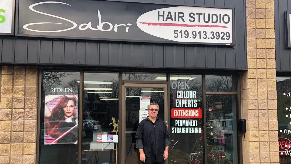 Sabri Sulejmani, owner of Sabri Hair Studio