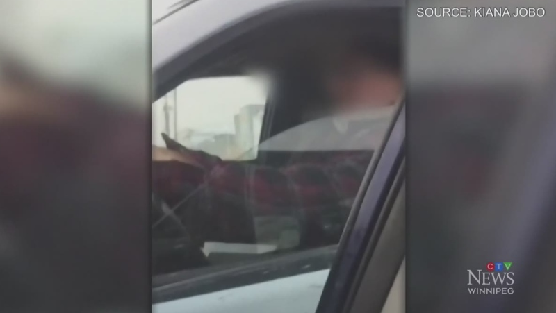 Car rammed in aggressive driving incident