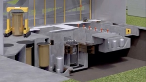 A small modular nuclear reactor or SMR is seen in this undated photo.