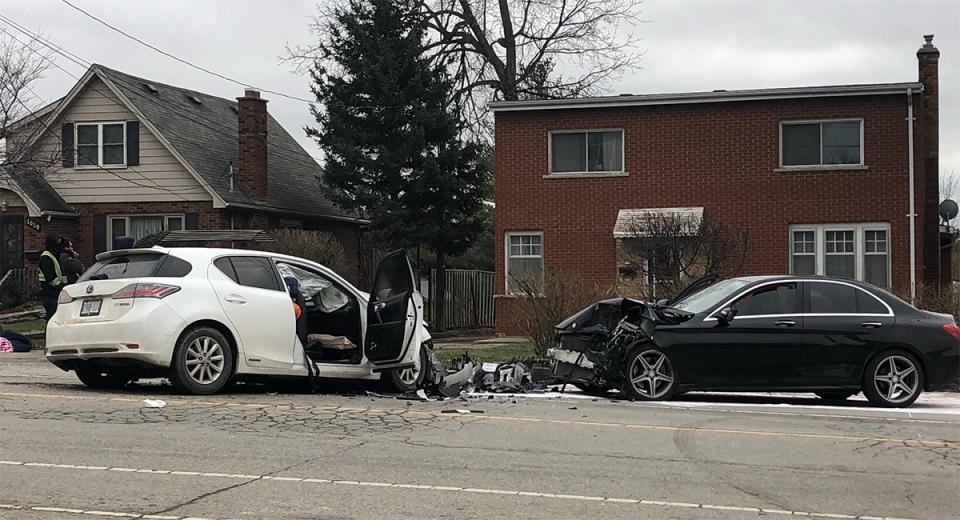 Crash on Hamilton Rd.