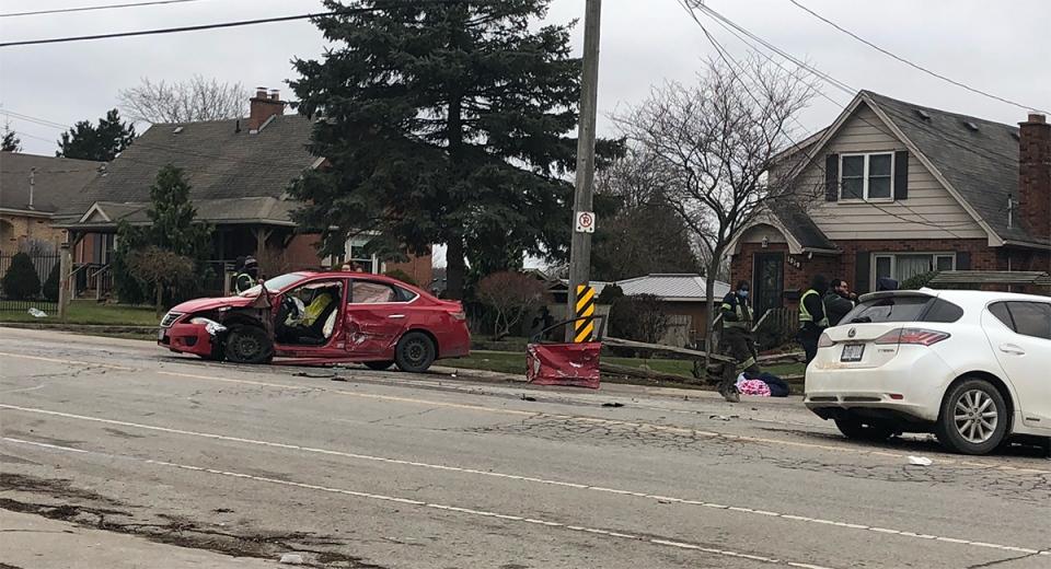 Hamilton Road collision