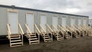 Inside the new Winter Response Plan's overnight and day resting space in London, Ont. on Tuesday, Dec. 22, 2020. (Jim Knight / CTV News)