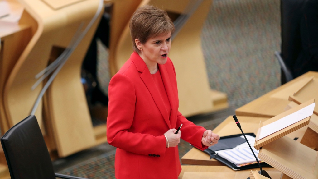 Scottish leader Sturgeon sorry for breaking COVID-19 rules