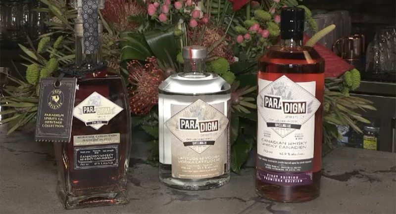 Whiskey and vodka produced at Paradigm Spirits Co. in London, Ont.