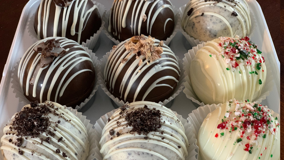 Chocolate treats created by Tanya Card