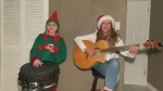 Tonight, a festive song from Timmins
