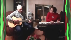 Sault father daughter perform a Christmas song