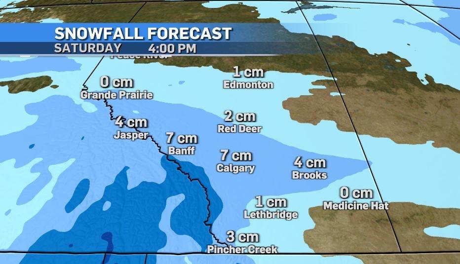 Calgary weather snowfall Dec. 24, 2020