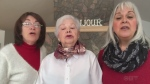 Patty Dunlop and friends singing a french song