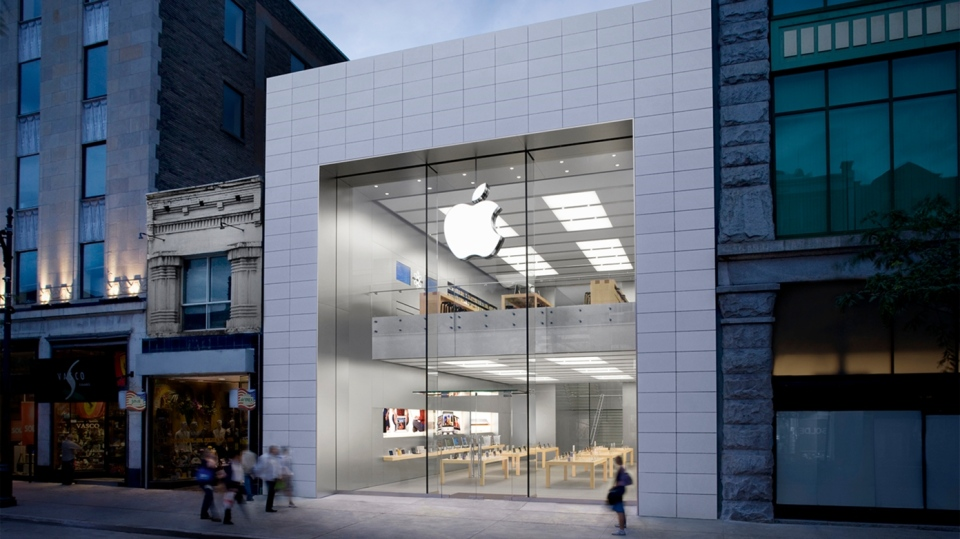 The Apple store on Ste. Catherine St. in Montreal is considered essential because it provides repair services. SOURCE: Apple.com