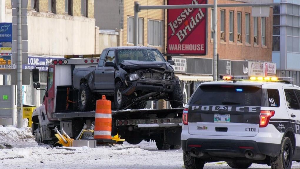 Crash closes Portage Avenue Sunday morning