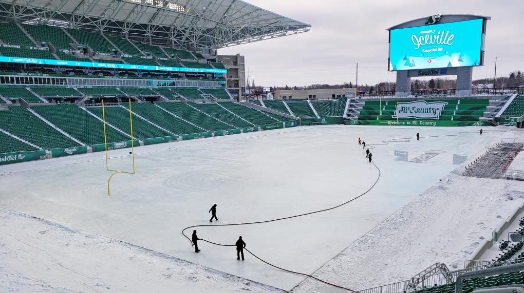 Iceville Mosaic Stadium