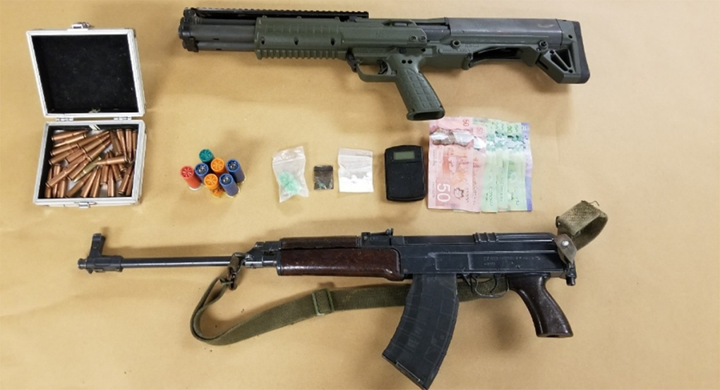 Guns and drugs seized
