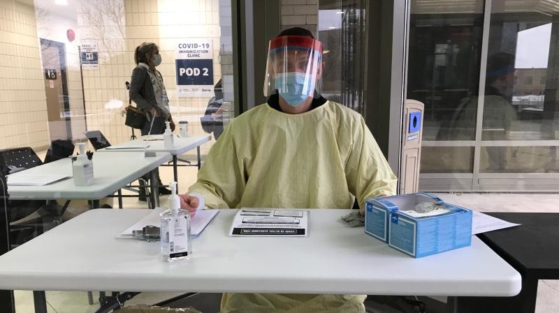 RVH COVID-19 Immunization Clinic in Barrie, Ont. (Rob Cooper/CTV News)