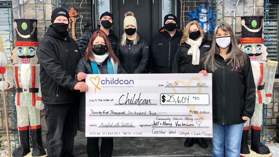 Songbird Lane cheque for Childcan