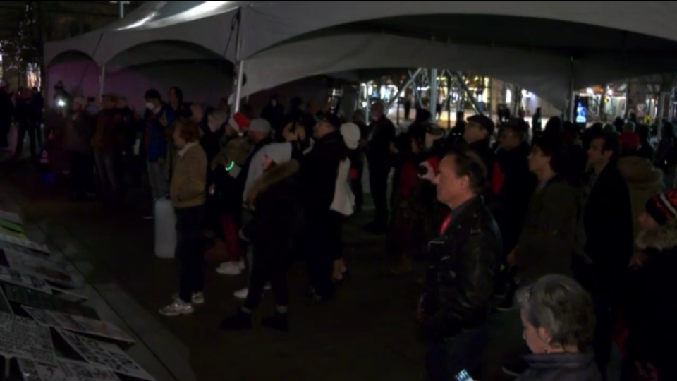 Vancouver Art Gallery NYE rally