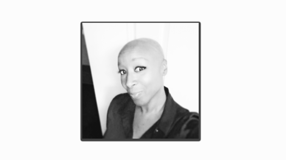 Melissa Allder pictured here with her beautiful bald head after her chemotherapy treatments (Source: Melyna Allder-Myrie)