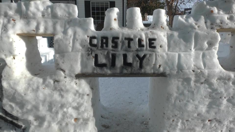 snow castle, Edmonton