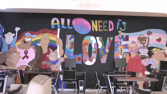 Outloud North Bay mural All You Need is Love