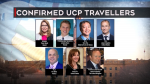 UCP MLAs and staffers who left Alberta over the holidays despite recommendations to stay home.