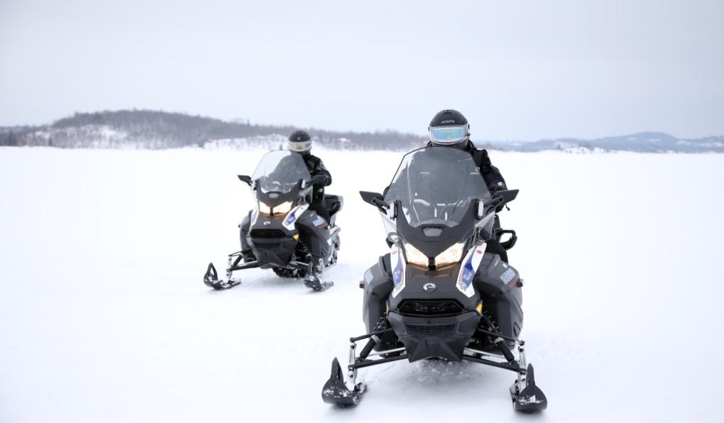 Snow machines ice