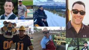 A montage of images of Sgt. Andrew Harnett. (Twitter: Calgary Police Service) (Jan. 4, 2020)